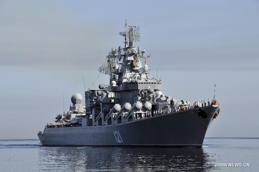 قدرت نمایی ناوهای روسی در مقابل دیدگان سعودی ها