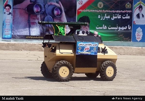 رونمایی از اولین ربات مسلح ارتش جمهوری اسلامی ایران + فیلم