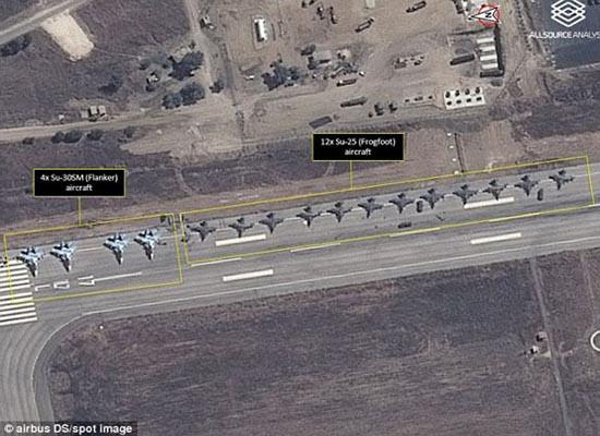 قدرت نمایی جنگنده های روسی بر فراز آسمان سوریه