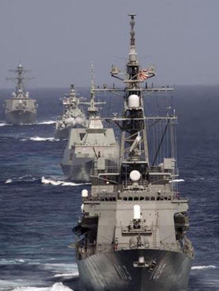 برگزاری رزمایش مشترک دریایی هند و ژاپن