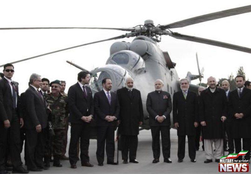 هند به دنبال ارسال بالگرد بیشتر به افغانستان