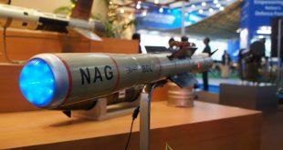 موشک ضد زره ناگ در یک نمایشگاه نظامی