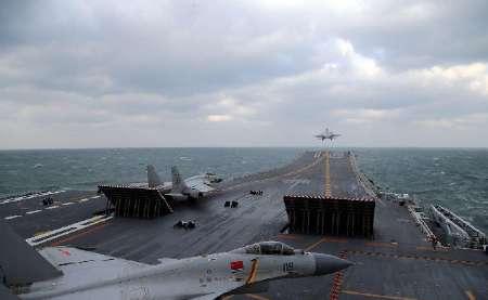 اولین رزمایش ناو هواپیمابر چین در دریای چین جنوبی