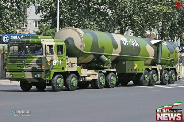  موشک قاره پیمای ICBM ساخت چین معروف به Dong Feng 31