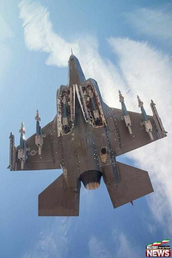 جنگنده اف ۳۵ لایتنینگ با حداکثر بارگذاری