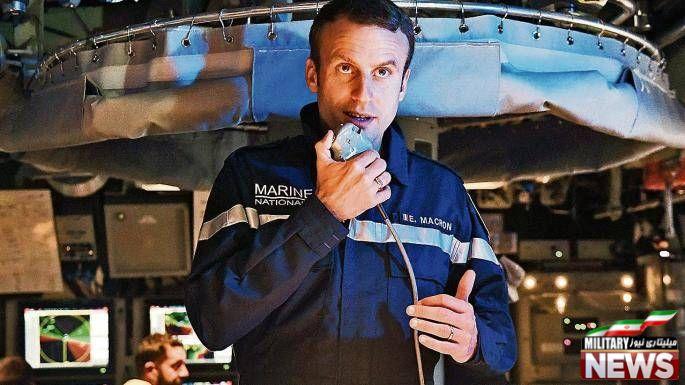 حضور رییس جمهور فرانسه در زیردریایی اتمی+عکس