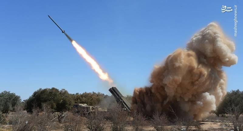 طوفان موشک روسی «اورگان» در سوریه+عکس