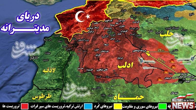طوفان یگانهای پهپادی جبهه مقاومت و سپاه پاسداران در شمال استان حماه + نقشه میدانی