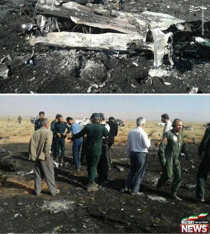 سقوط یک فروند جنگنده سوخو ۲۲ در استان فارس +عکس