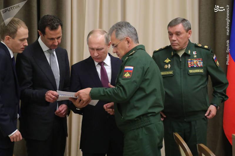 دیدار معنادار بشار اسد با پوتین در سوچی روسیه پس از شکست داعش