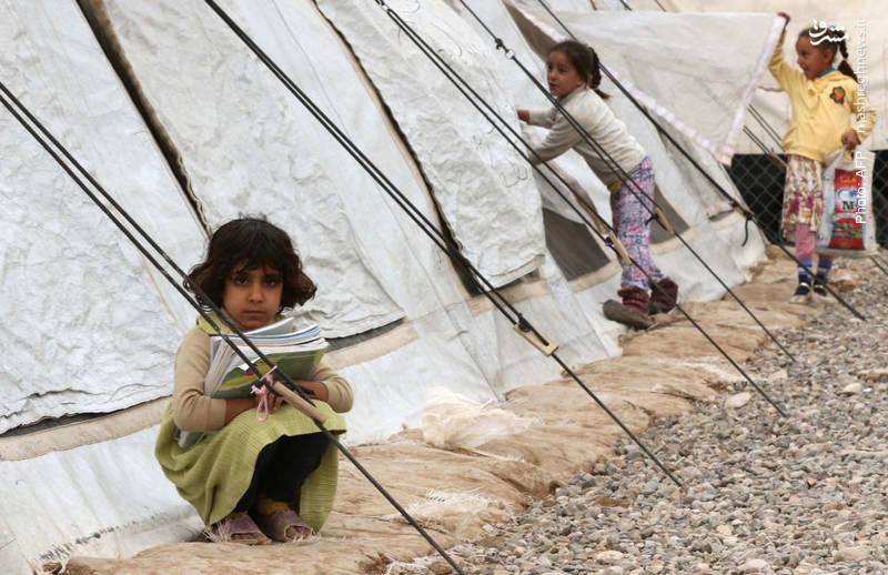 مدرسههای موقت سازمان ملل در اردوگاه آوارگان موصل