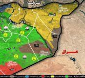 گزارش روز دوم عملیات در شرق استان دیرالزور؛ ۹ کیلومتر تا محاصره آخرین بقایای تروریست های داعش در بیابان های غرب رود فرات + نقشه میدانی