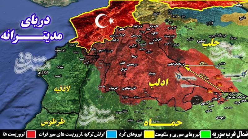 آغاز عملیات پاکسازی مهمترین پایگاه تروریستهای جبهه النصره در شمال حماه/ هلاکت ۴ فرمانده ارشد میدانی + نقشه میدانی