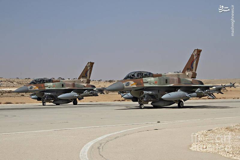 دو فروند اف ۱۶ آی اسراییلی