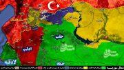 تحولات میدانی شمال استان حلب به روایت آمار: تلفات شبه نظامیان کُرد و ارتش ترکیه ۳۵ روز پس از شروع درگیریها در عفرین  + نقشه میدانی و تصاویر