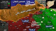 قلع و قمع گروههای تروریستی در شاهراه ارتباطی جنوب غرب سوریه/ فرار هواپیماهای جاسوسی رژیم صهیونیستی از آسمان قنیطره + نقشه میدانی و تصاویر