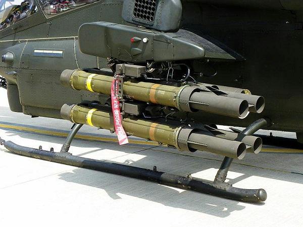 لانچر موشک تاو نصب زیر بالچه تسلیحاتی بالگرد کبرا