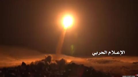 برخورد موشک بالستیک یمن در قلب مواضع عربستان