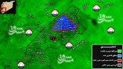 آخرین تحولات میدانی جنوب دمشق پس از هزار و ۹۶۰ روز اشغالگری/ ۷۸ شهید و زخمی در حملات خمپاره ای داعش به پایتخت + نقشه میدانی
