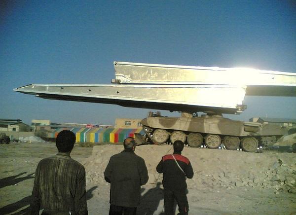 تانک نصب پل صراط