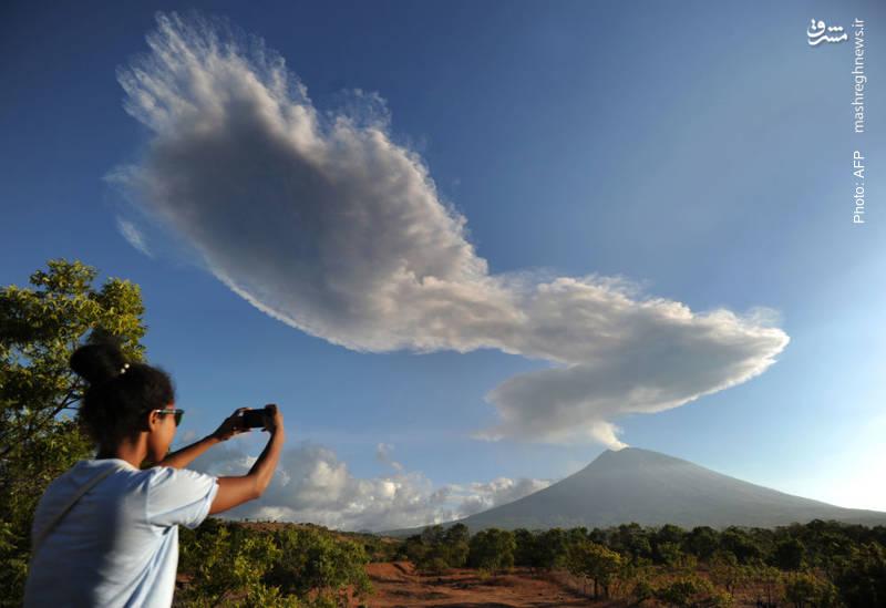 خروش دوباره آتشفشان در بالی
