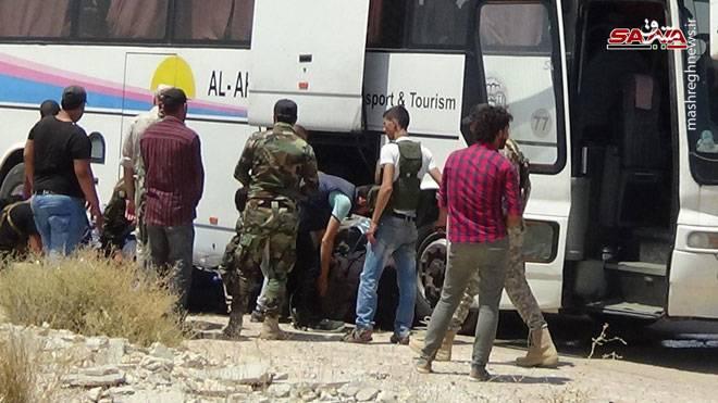 آغاز عملیات خروج تروریستها از «درعا» +عکس