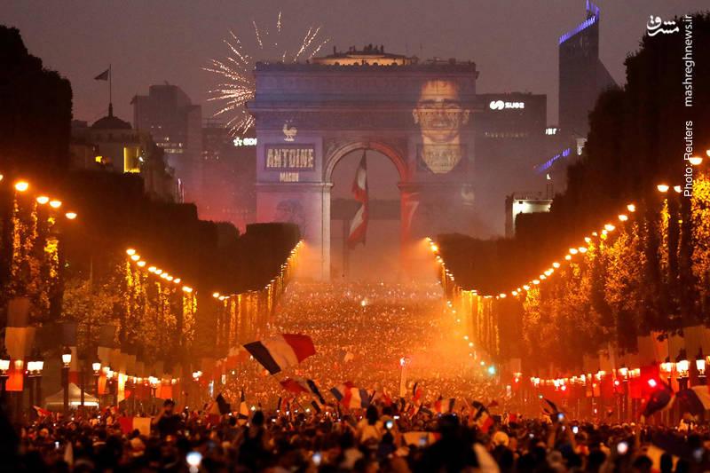 جشن قهرمانی جام دنیای در پاریس