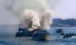 حمله هوایی ائتلاف سعودی به چند قایق یمنی در ساحل الحدیده