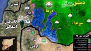 آخرین تحولات میدانی جنوب سوریه؛ ۹۸ درصد استان درعا به کنترل نیروهای سوری درآمد + نقشه میدانی
