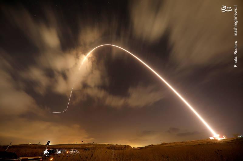 تصویری از شلیک موشکِ رهگیر در سامانه دفاع ضدموشکی اسرائیل
