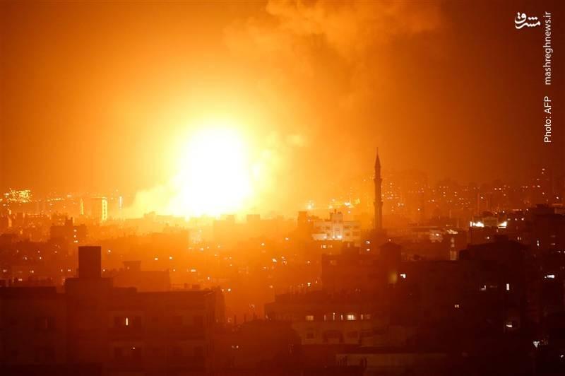 بمباران غزه از سوی رژیم صهیونیستی به بهانه دفاع از خود پس از شلیک موشک از غزه به سرزمینهای اشغالی