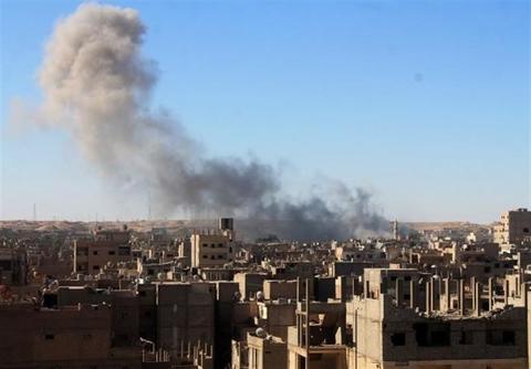 حمله ائتلاف آمریکایی به مناطق مسکونی در دیرالزور