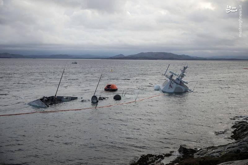 عکس/ غرق ناو ۵ هزار میلیارد تومانی نروژ
