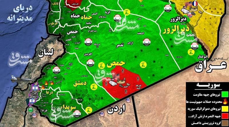 جزئیات حملات موشکی صهیونیستها به غرب استان دمشق/ پاسخ کوبنده پدافند هوایی ارتش سوریه با سامانههای دفاعی S۲۰۰  و موشکهای سام + نقشه میدانی و تصاویر