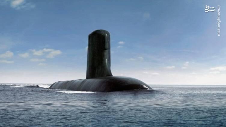 نمایه گرافیکی از زیردریایی آینده نیروی دریایی استرالیا