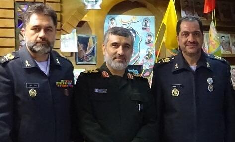 ملاقات سردار حاجی زاده با فرمانده پدافند هوایی