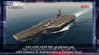 """حیرت کارشناسان برنامه """"ترونیوز"""" به تصویربرداری دقیق پهپادهای ایرانی از ناو هواپیمابر آیزنهاور"""